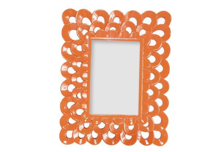 4x6 Scallop Frame, Orange