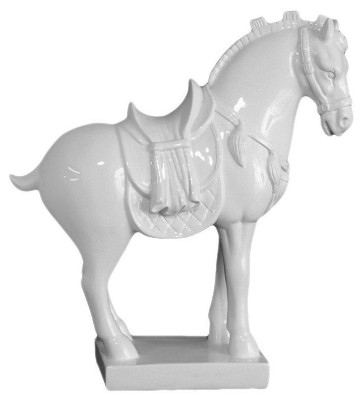 "12"" Western Horse Figurine, White"
