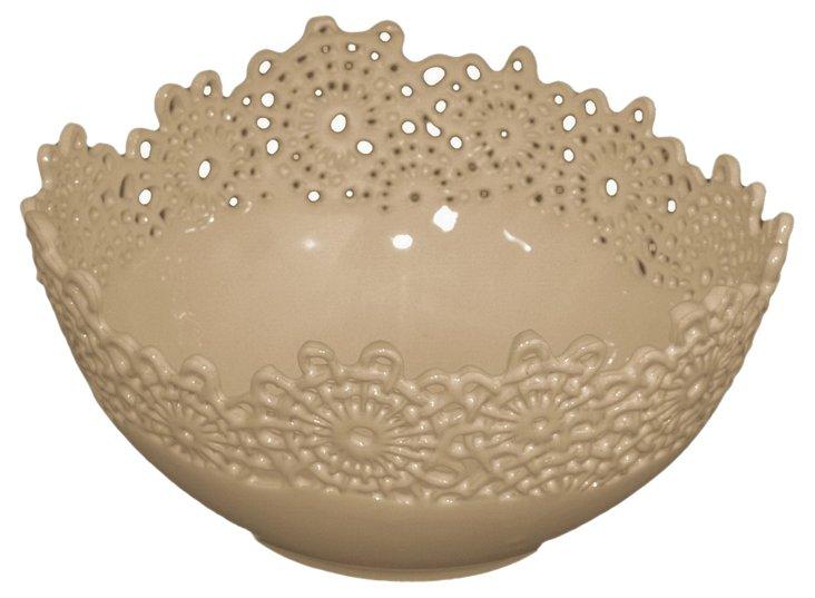 "10"" Lace Ceramic Bowl"