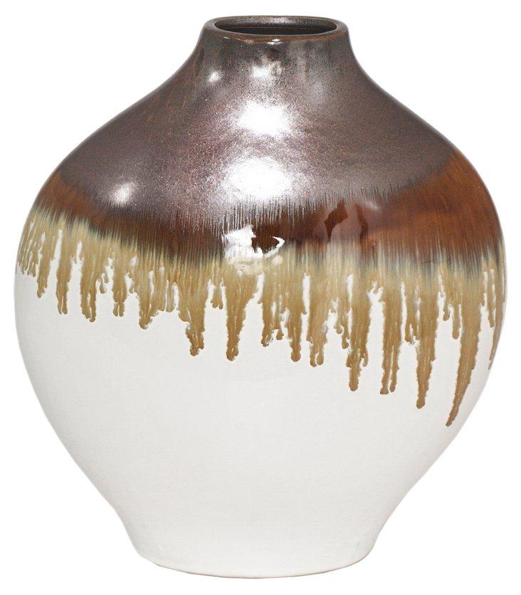 """11"""" Ombré Drip Vase"""