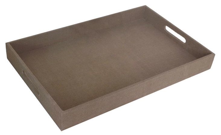 """12""""x18"""" Classic Tray, Brown"""