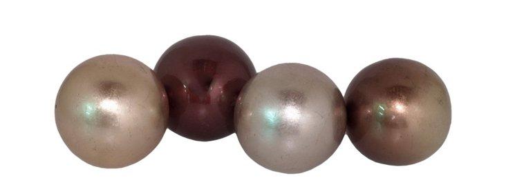 "5"" Pearl Orbs, Asst. of 4"