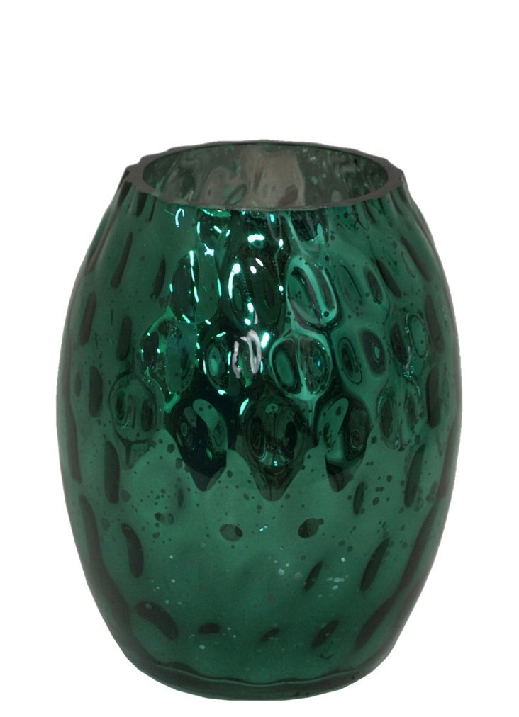 """7"""" Faceted Hurricane, Green"""