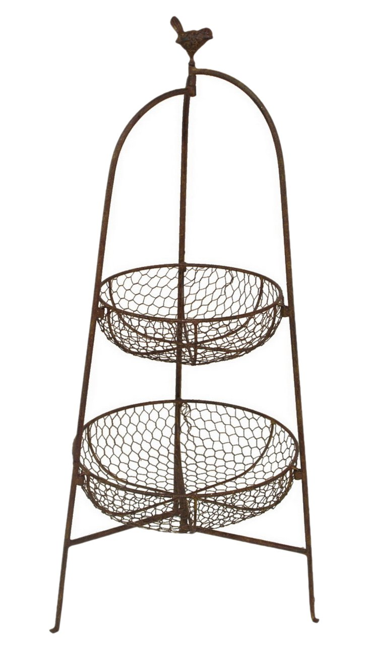 """31"""" Two-Tier Plant Basket"""
