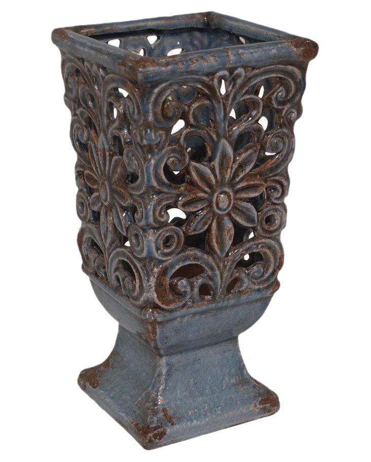 """13"""" Blue Violet Vase"""