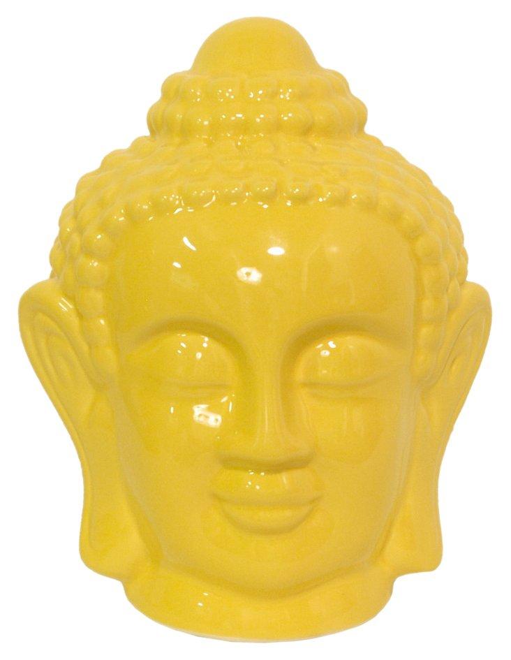 """8"""" Buddha Objet, Yellow"""