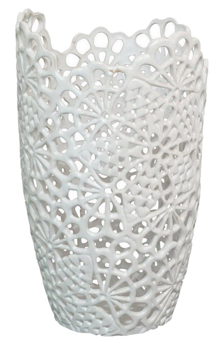 """12"""" Matte Lace Vase"""