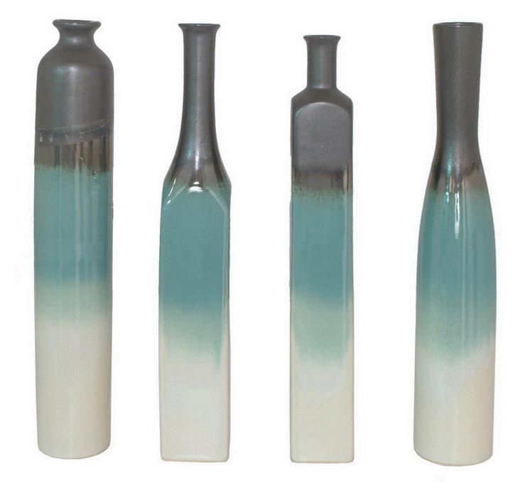 Ombré Dipped Vases, Asst. of 4
