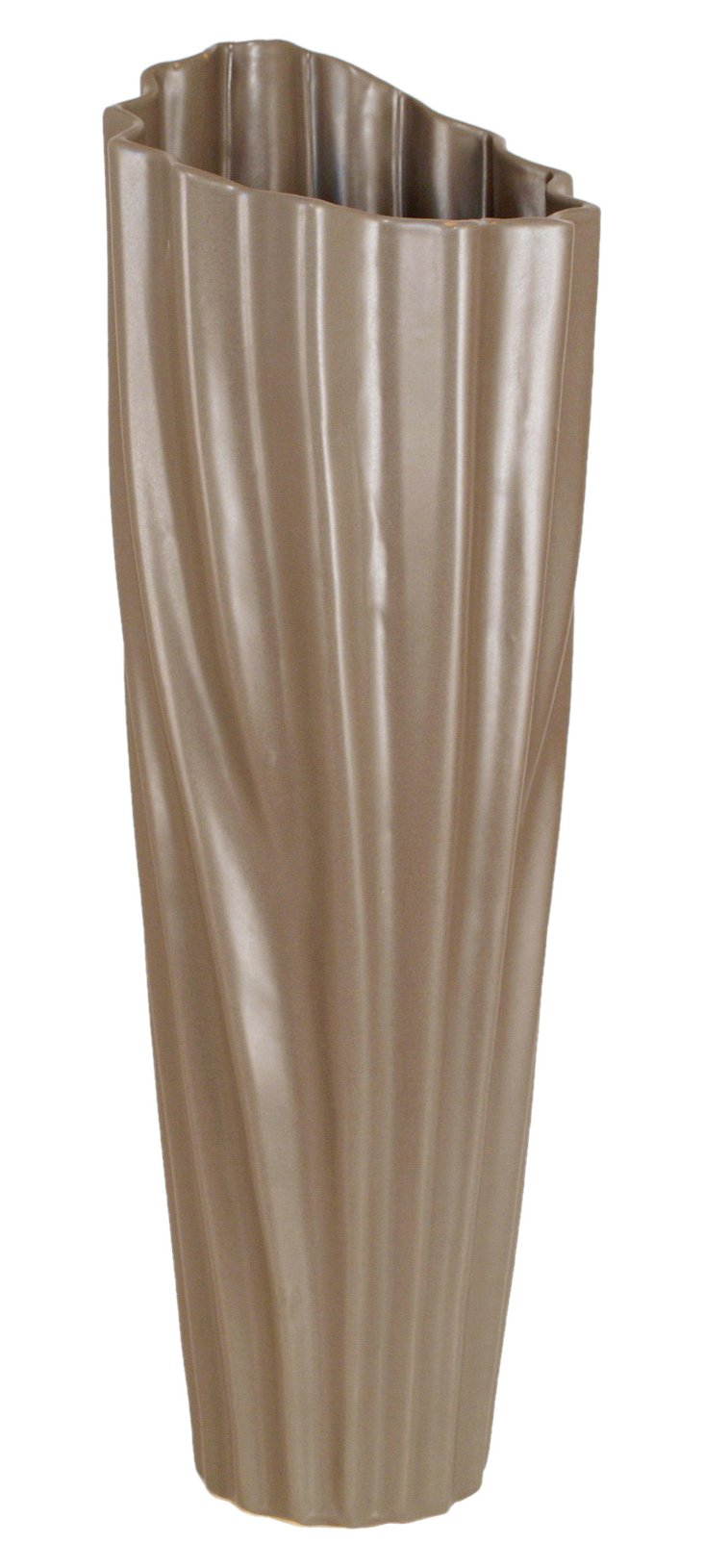 "22"" Rippled Ceramic Vase"