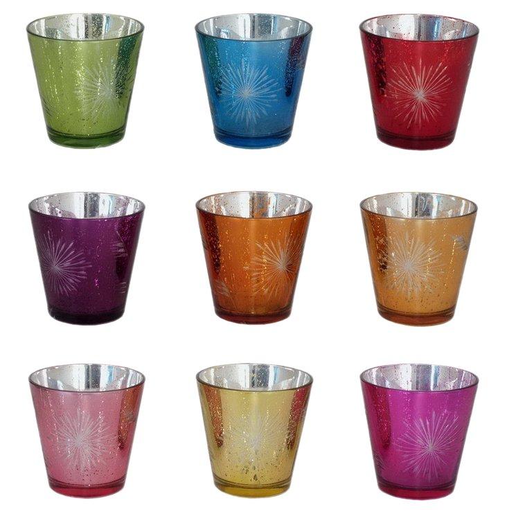 S/9 Starburst Glass Votives