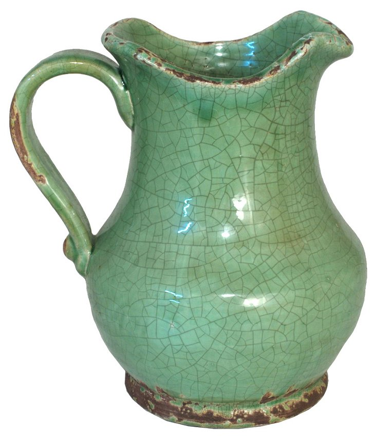 "11"" House Pitcher, Green"