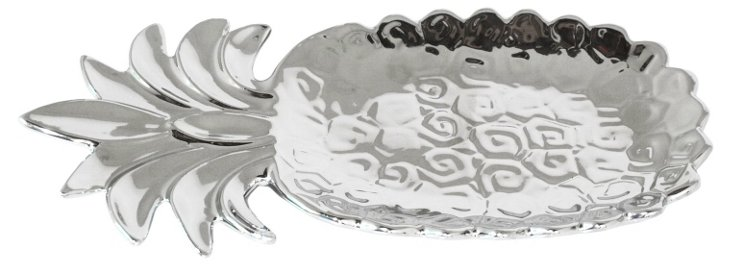 Silver Pineapple Plate