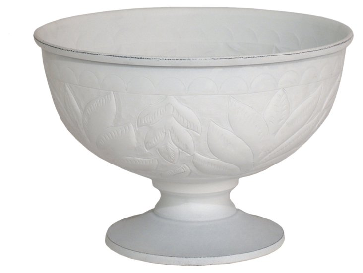 """10"""" Leaf Relief Footed Bowl"""