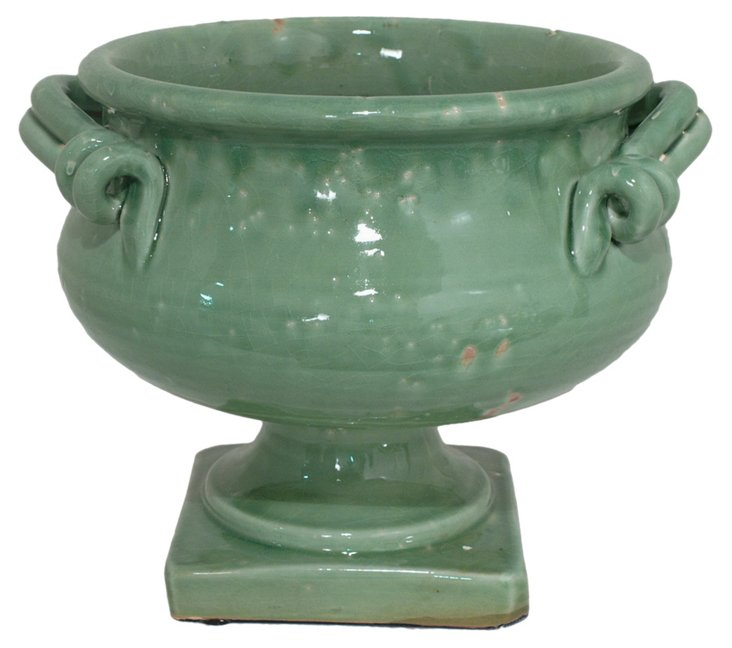 Footed Entry Bowl, Green