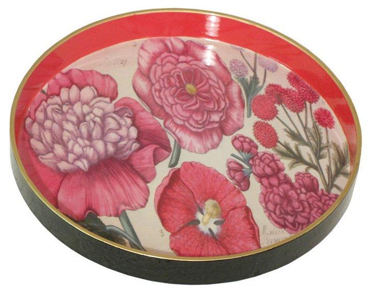 "12"" Fleur Round Tray"