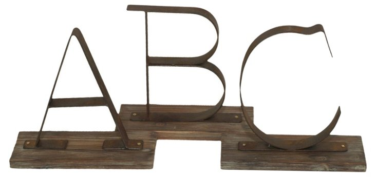 Set of 3 Alphabet Objets