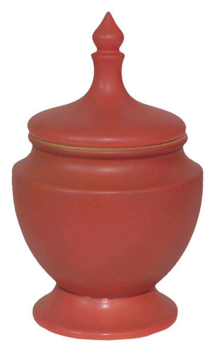 """11"""" O'Hara Lidded Jar, Red"""
