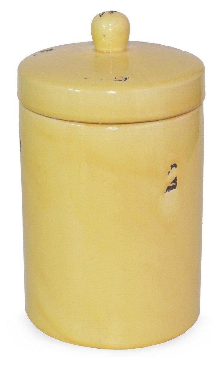 """12"""" Jar w/ Lid, Yellow"""