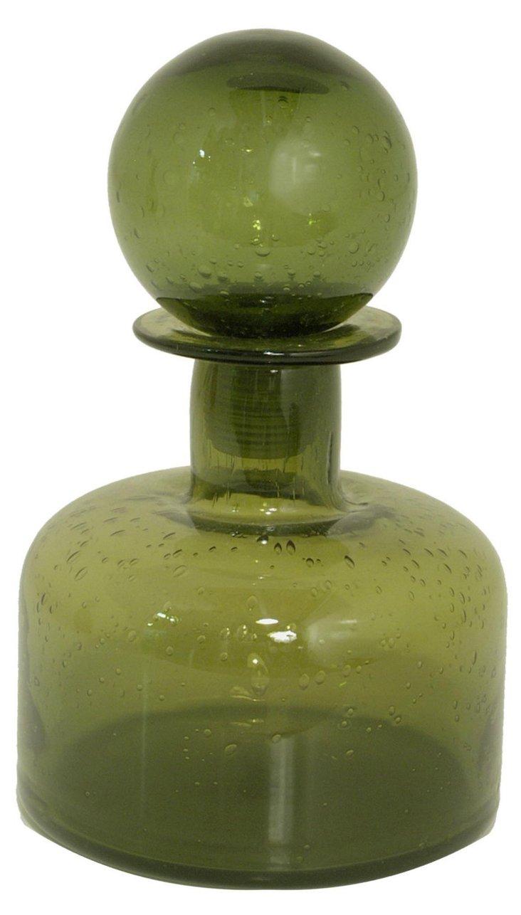 """8"""" Glass Bottle, Green"""