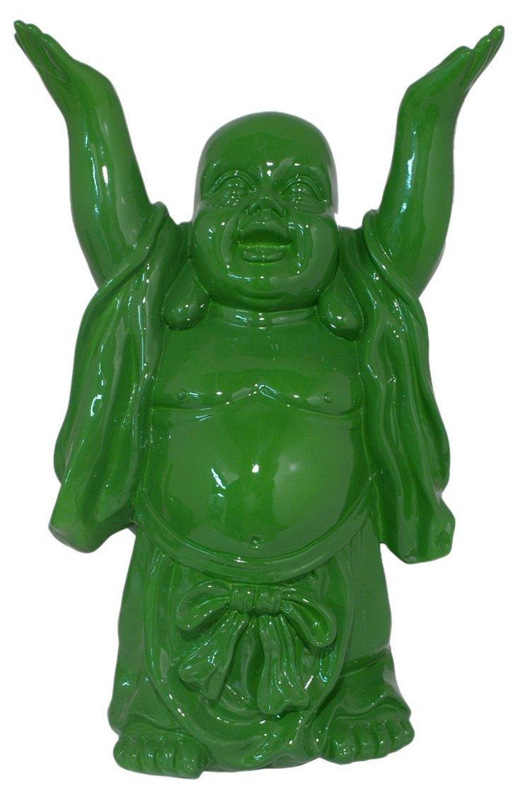 "17"" Buddha Figurine, Green"