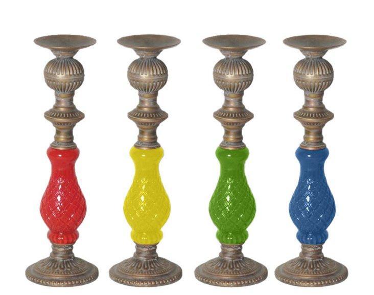 "14"" Bright Candleholders, Asst. of 4"