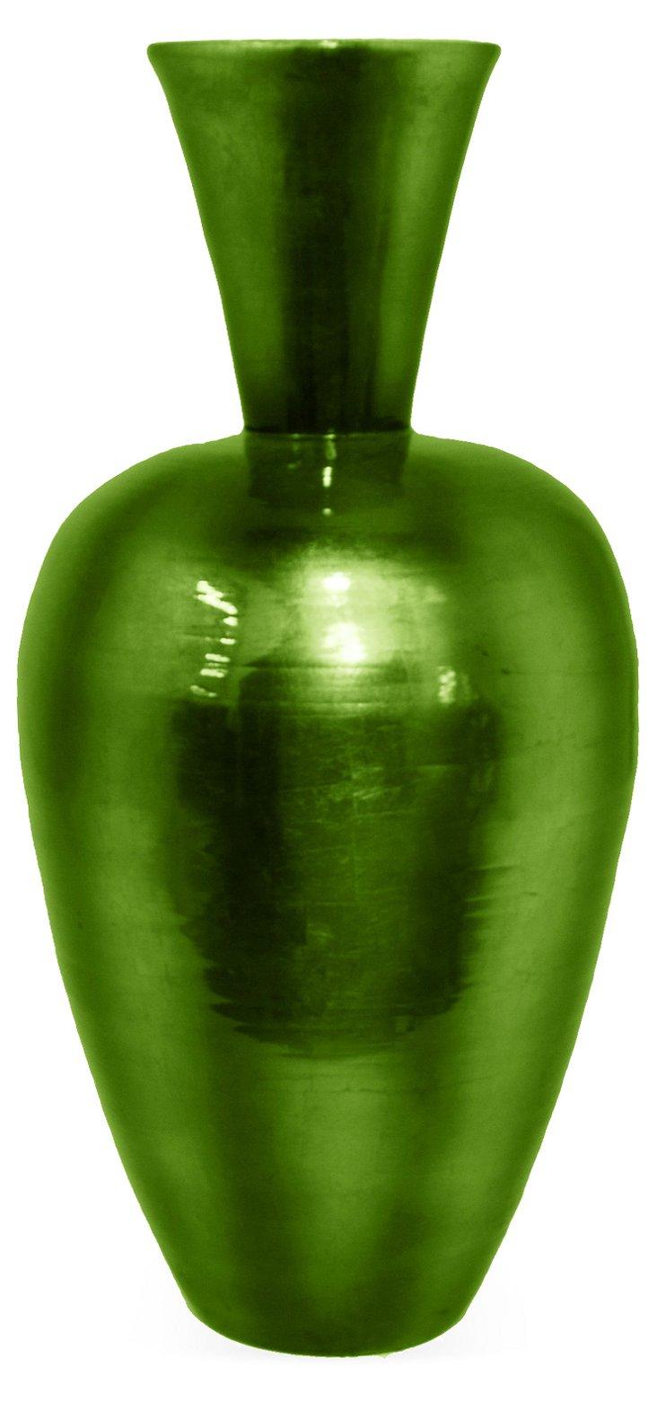 "29"" Bamboo Vase, Green"