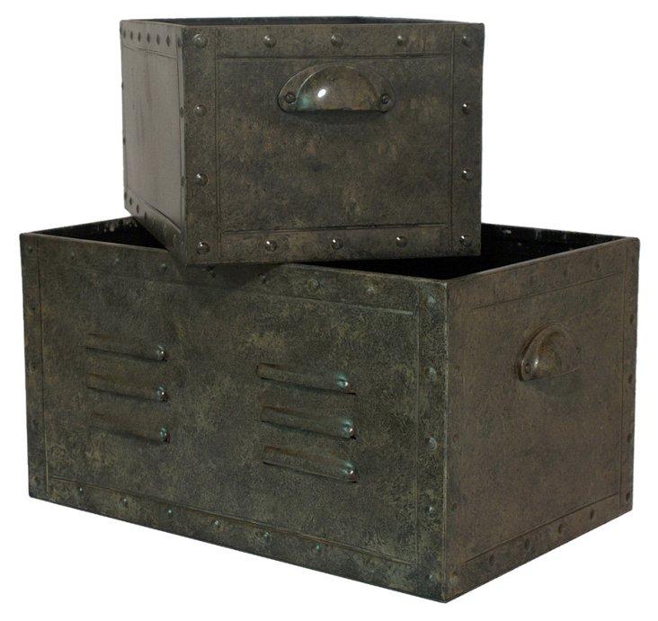 Asst. of 2 Locker Boxes