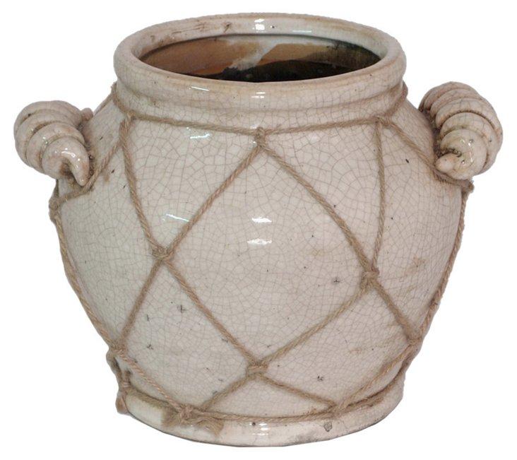 """8"""" Ceramic Rope Vase"""