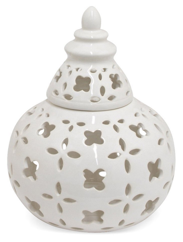 "9"" Pierced Pagoda Jar"