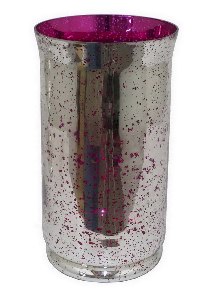 Mercury-Glass Hurricane, Pink