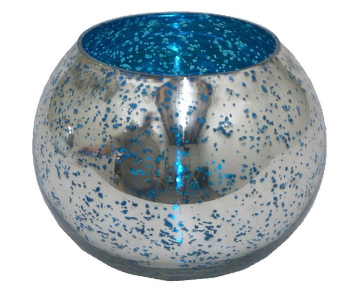 Mercury-Glass Orb II, Blue