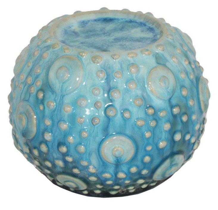 Sea-Urchin Candleholder, Blue