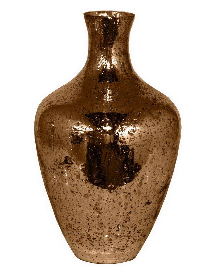 Silvered-Glass Vase