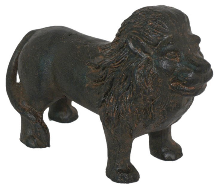 "6"" Iron Lion Objet, Black"