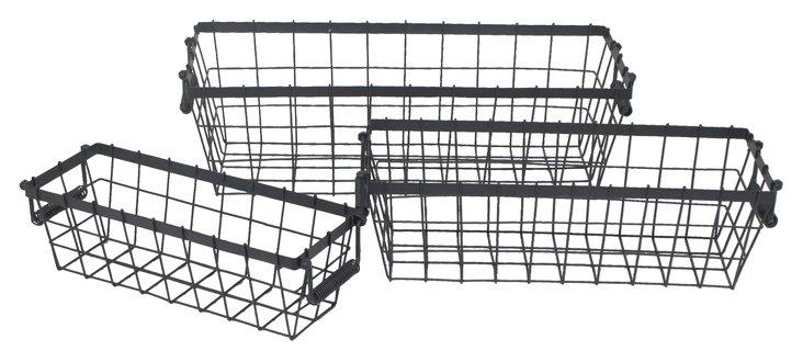 Asst of 3 Rustic Baskets