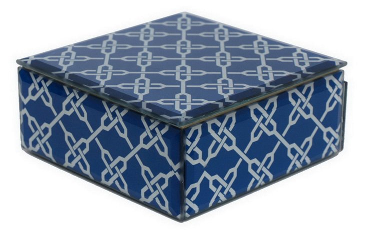 "5"" x 5"" Decorative Pattern Glass Box"
