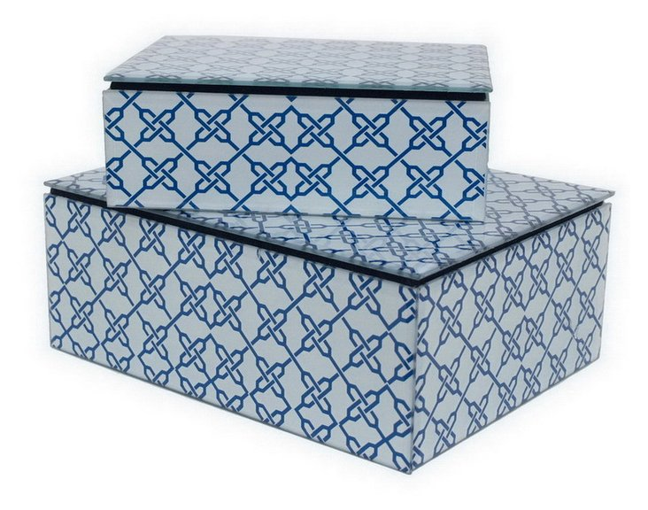 Decorative Glass Box, Asst. of 2