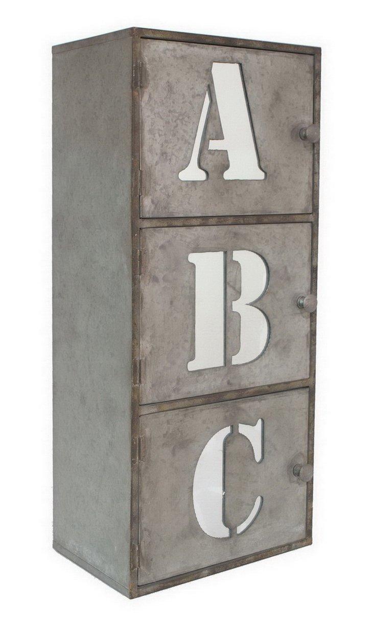 """ABC"" Wall Shelf, Light Gray"