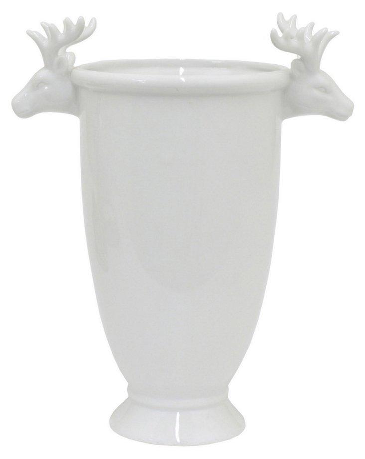Ceramic Reindeer Vase