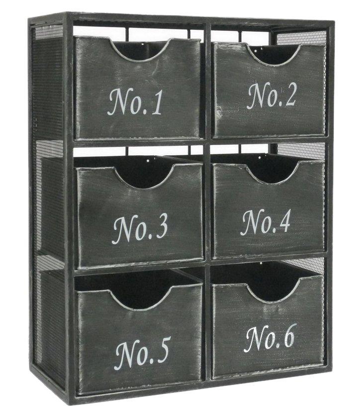 6-Drawer Wall Storage