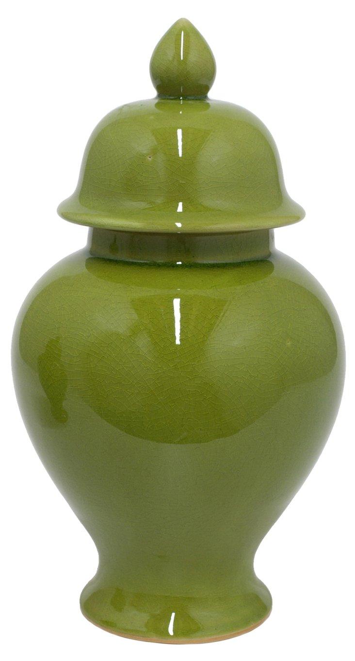 """13"""" Temple Jar, Green"""