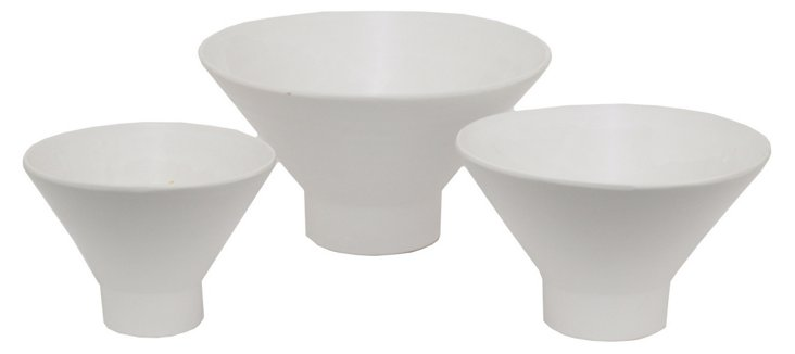 White Muse Bowls, Asst. of 3