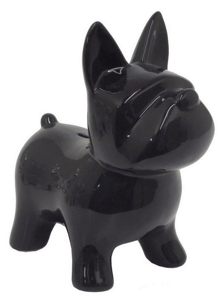 "10"" Doggy Coin Bank, Black"