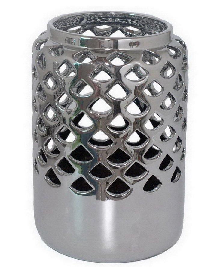Silver Pierced Vase