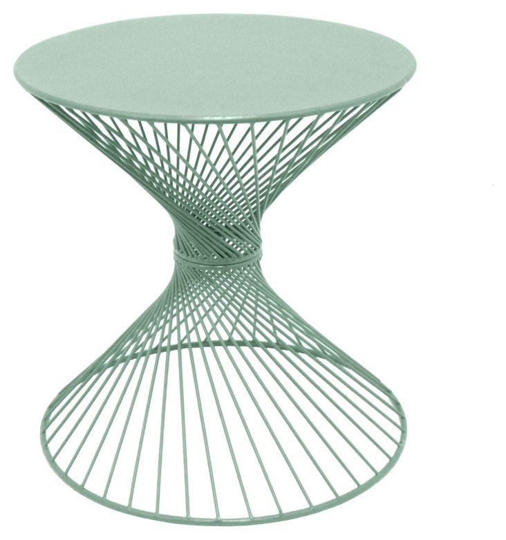 "20"" Metal Table, Green"