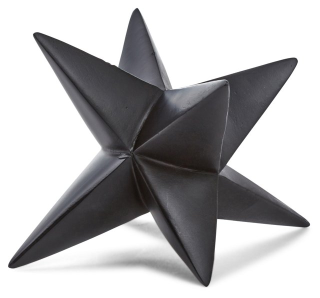 "7"" Star Table Decor, Black"