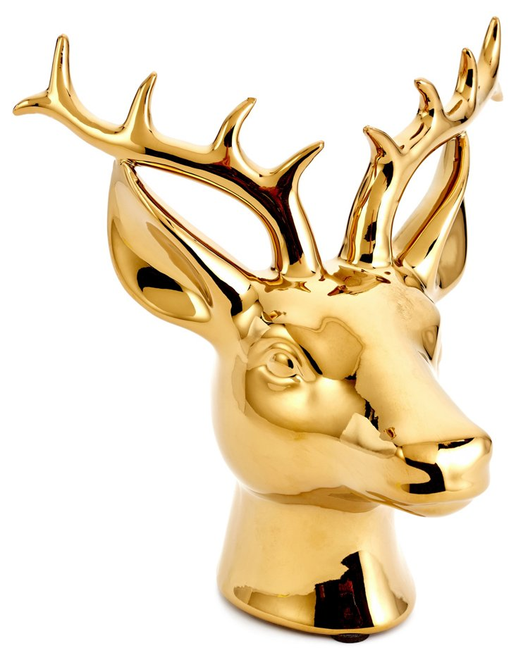 "7"" Stag Head, Gold"