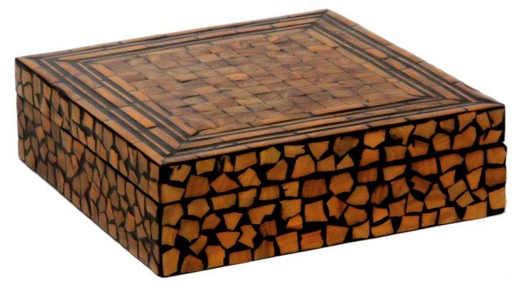 "8"" Mosaic Box, Brown"