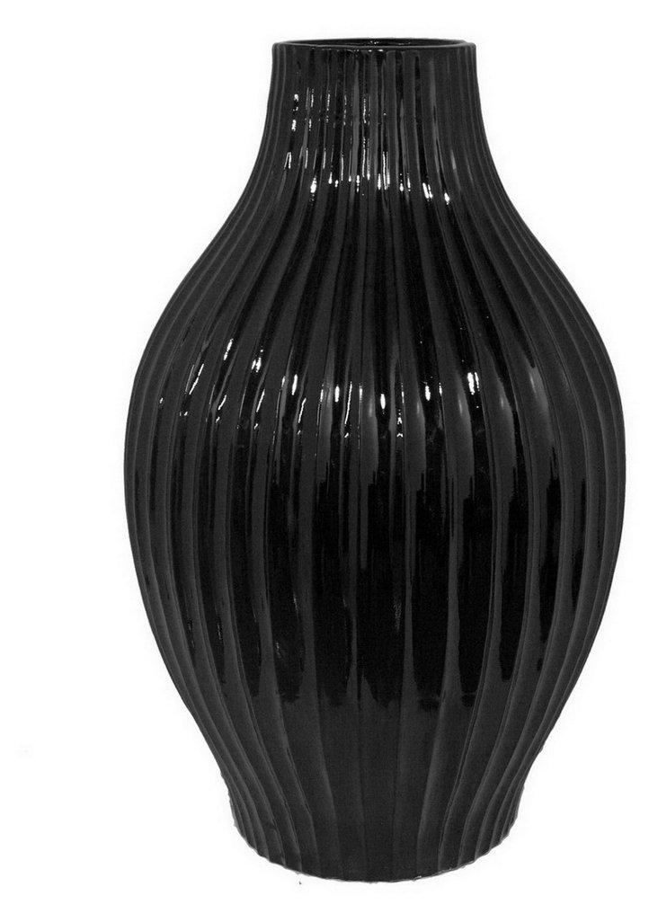 "22"" Vase, Black"