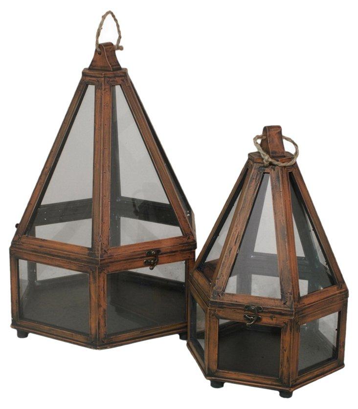 Asst. of 2 Wooden Terrariums